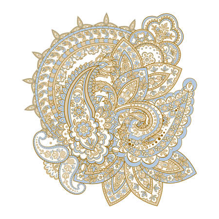 Seamless Paisley pattern in indian style. Floral vector illustration
