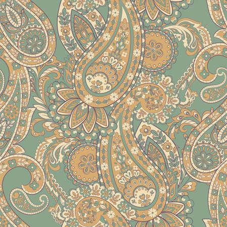 Damask paisley seamless vector pattern Иллюстрация