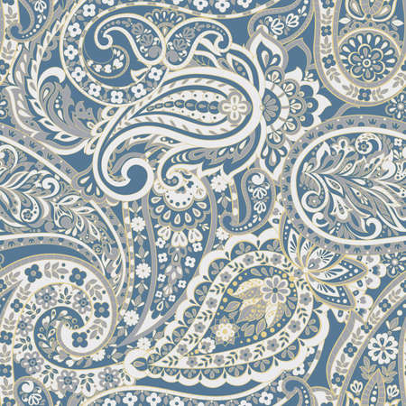 Seamless paisley ornament. Vector pattern in asian textile style