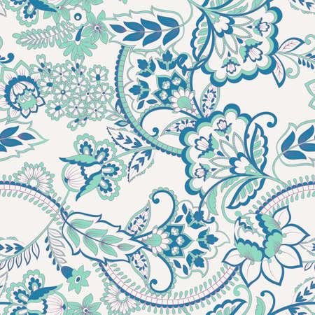 Floral Seamless vintage pattern. Vector background for textile design