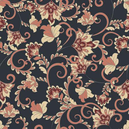 Vintage floral seamless pattern. Vector wallpaper Vector Illustration