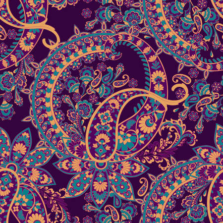 Paisley Pattern. Seamless Asian Textile Background Vectores