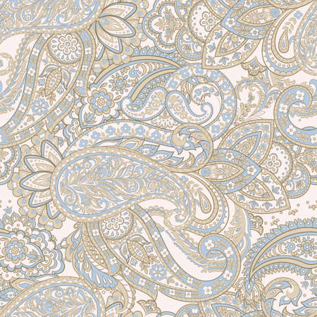 Seamless Traditional Indian Paisley pattern. Vector ethnic background