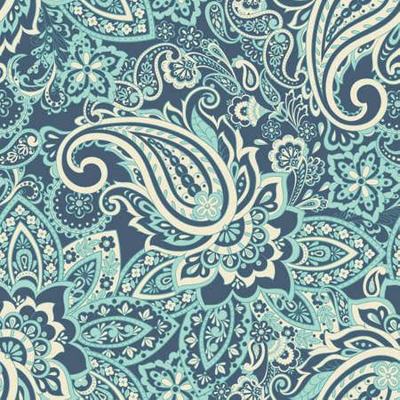 Traditional Persian pickles seamless pattern. Vintage flowers ornament. Векторная Иллюстрация
