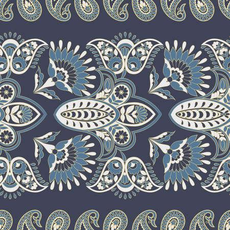 Seamless floral vintage pattern. Vector background for textile design