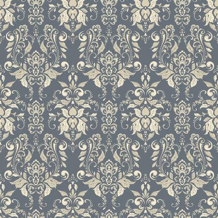 Seamless damask background. Vector vintage wallpaper