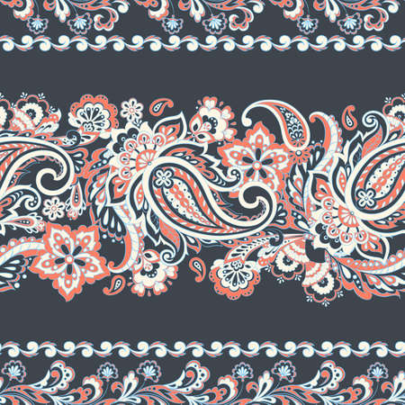 paisley seamless pattern. asian style vector background Illustration