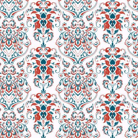 Seamless vintage background. Vector background for textile design Çizim