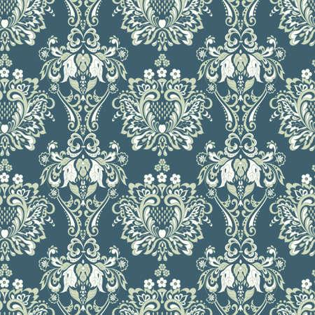 Vintage floral nahtlose Muster. Klassische Barocktapete. nahtloser Vektorhintergrund