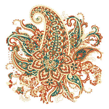 Paisley Damask ornament. Isolated Vector illustration  イラスト・ベクター素材