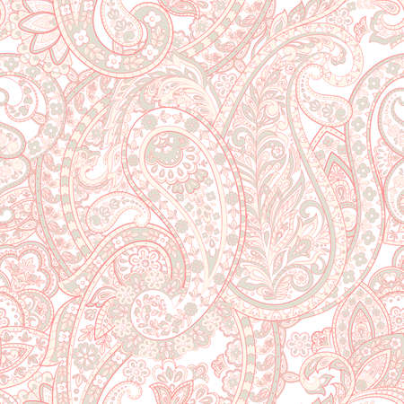 Floral Paisley Pattern. Seamless Asian Textile Background  イラスト・ベクター素材