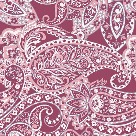 Seamless pattern with paisley ornament. Vector illustration  イラスト・ベクター素材