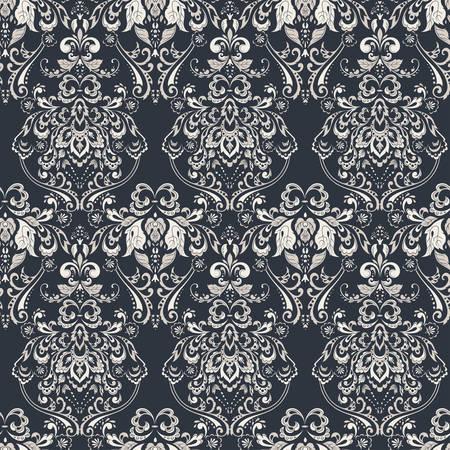 Vintage seamless wallpaper. Floral vector pattern
