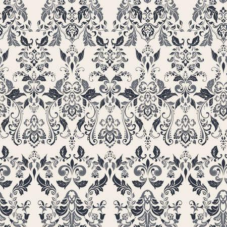 Seamless vintage vector background. Vector floral wallpaper baroque style pattern Vektoros illusztráció
