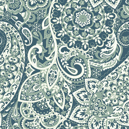 Paisley seamless indian pattern. Ethnic vector background Illustration