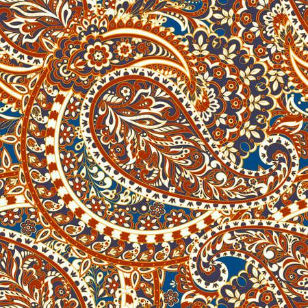Modèle vectoriel continu paisley indien