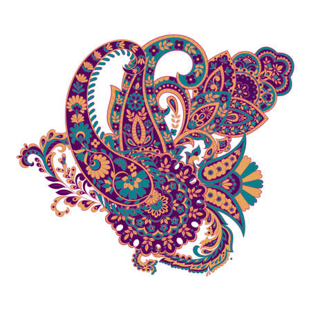 Isolated paisley ornament. Vector illustration
