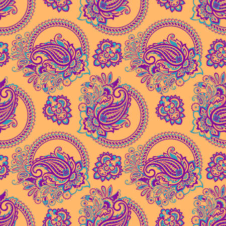 paisley seamless pattern. damask vector background