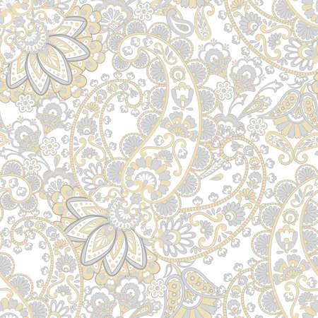 Seamless Paisley pattern. Damask paisley pattern for decoration design. Çizim
