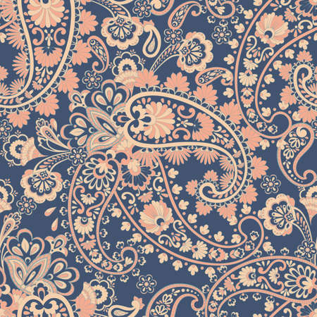Paisley pattern, great design for any purposes. Seamless vector background Illustration