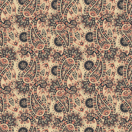 paisley seamless Vector pattern. batik style background