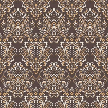 vintage floral seamless patten. Classic floral  wallpaper. seamless vector background Foto de archivo - 148768231