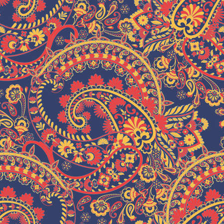 paisley seamless vector pattern Vetores