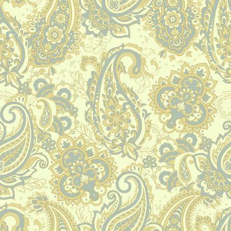 vintage pailsey pattern in indian batik style. floral vector background