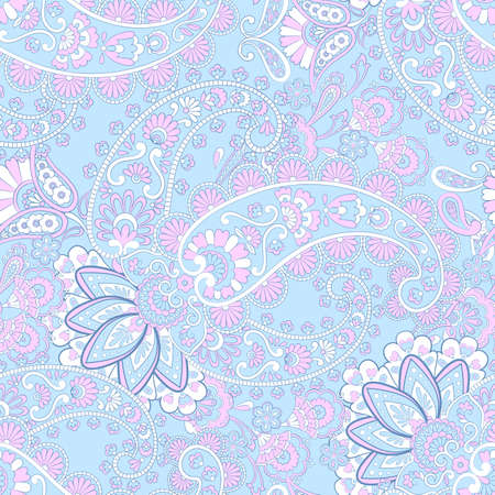 Seamless Paisley pattern. Damask paisley pattern for decoration design. Illustration