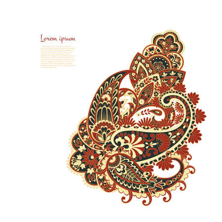 Vector Paisley pattern in indian style Illustration