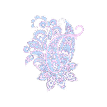 Vector Isolated indian pattern with paisley