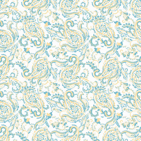 Paisley seamless pattern. Vintage floral background Illustration