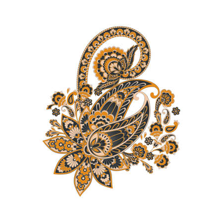 Vector Persian Paisley isolated ornament