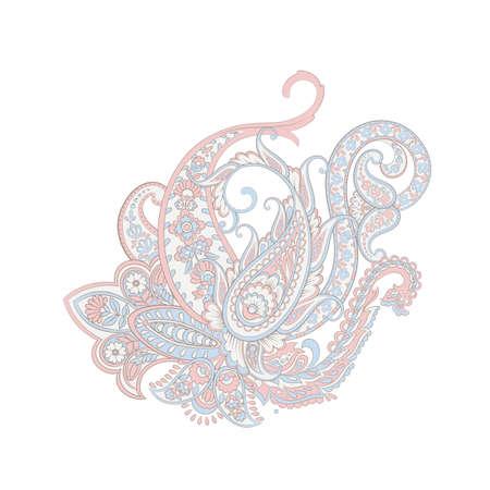 Paisley Vector Pattern. Isolated Damask Illustration