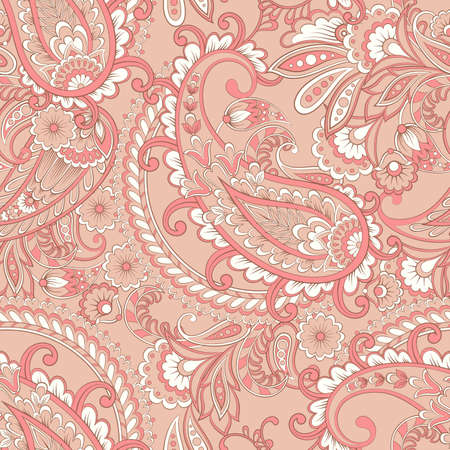 Paisley Vector Pattern. Seamless Asian Background
