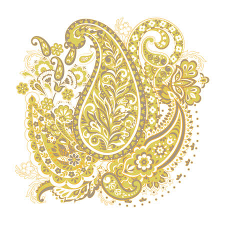 paisley isolated pattern. damask vector illustration