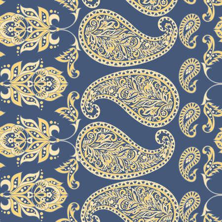 Paisley seamless pattern. Ilustração