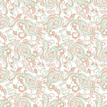 Paisley seamless pattern. Vintage floral background Ilustração