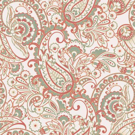 Floral seamless paisley pattern Vector Illustratie