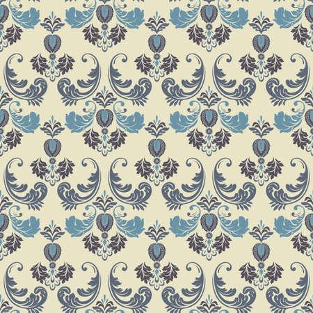 Seamless Ornate damask background. Vector vintage wallpaper