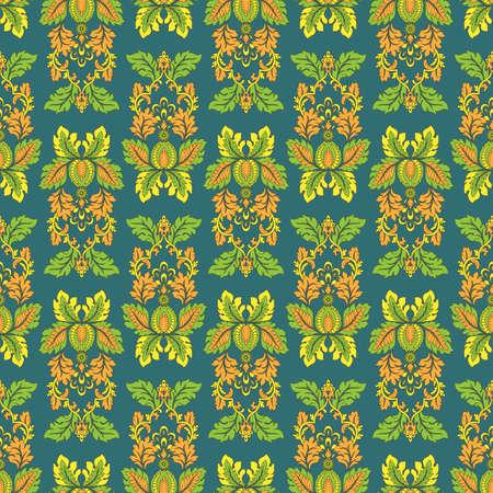 Seamless vintage vector background. Vector floral wallpaper