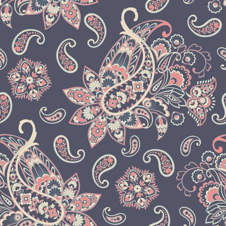 Paisley Pattern. Seamless Asian Textile Background Иллюстрация
