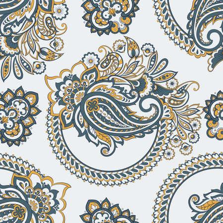 paisley seamless Vector pattern. batik style vintage background Vector Illustration