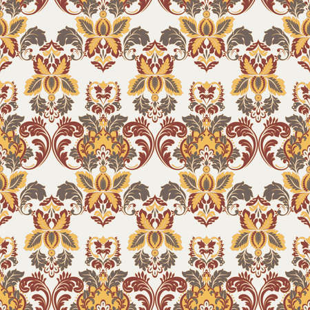 vintage floral seamless patten. Classic Baroque wallpaper. Illusztráció