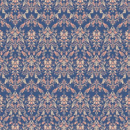 Ornate damask vintage wallpaper. Vector seamless pattern
