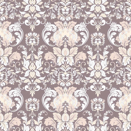 Ornate damask background. Vector vintage wallpaper