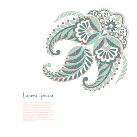 isolated paisley vector ornament Vecteurs