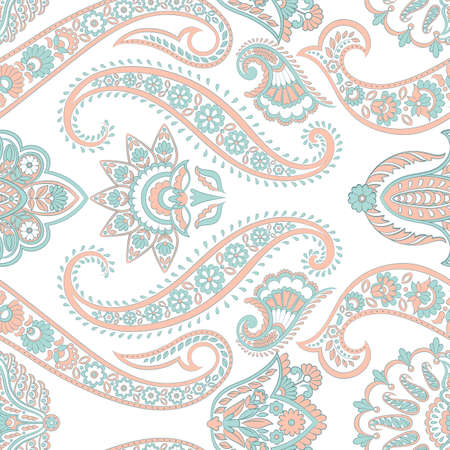 Paisley seamless pattern. Indian ornament Illustration