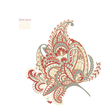 Paisley Floral oriental Isolated Pattern