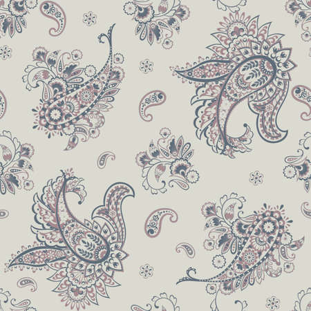 Paisley Ornamental seamless pattern. Floral background Illustration